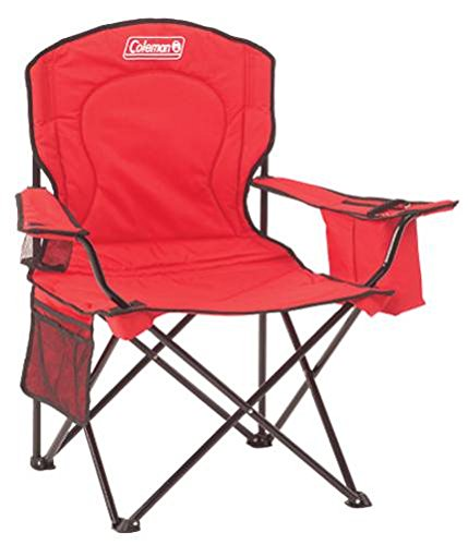 Coleman 2000020264 Cooler Quad Portable Camping Chair Red