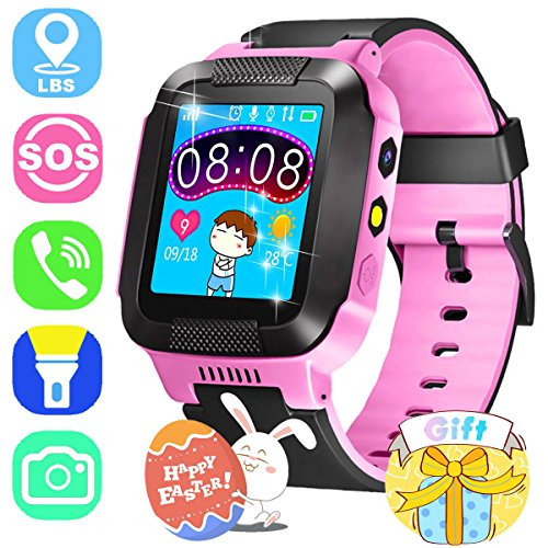 ONMet Kids GPS Tracker Smart Watch With Camera,Flashlight,Math Game