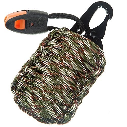 Paracord Grenade Suvival Kit – 18 IN 1 Tactical Gear – Fishing Bag with 550 Parachut ...