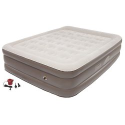 Coleman Company SupportRest Plus Pillow Stop with Double High Airbed, Queen,Grey