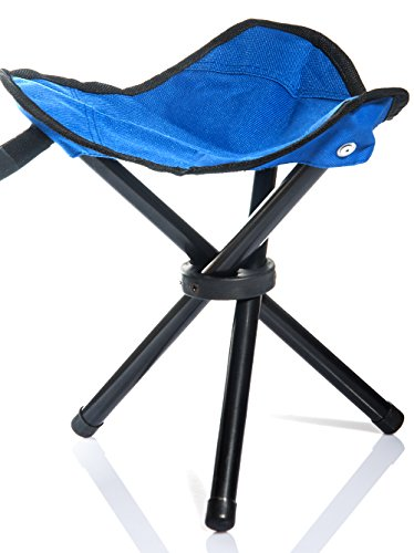 Lychee Outdoor Three Legged Foldable Folding Stool Camping