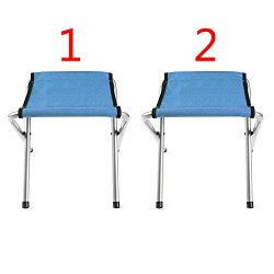 Yongtong (2-Pack) Folding Camp Stool, Holds up to 250 LBS, Light and portable Camping Chair, Fis ...