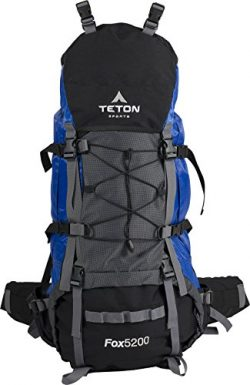 TETON Sports Fox 5200 Internal Frame Backpack – Not Your Basic Backpack; High-Performance Backpa ...