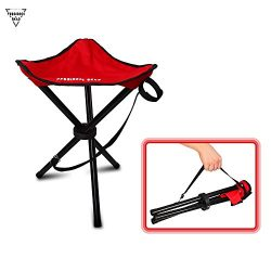 Forbidden Road Camping Stool Portable Seat Tripod Stool Chair Light Folding Hiking Fishing Trave ...