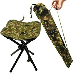 Portable Folding Stool Camping Outdoor Square Lightweight Stool Chair Heavy Duty Camouflage for  ...