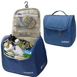 Hanging Toiletry Bag, MoreTeam Large Travel Toiletry Kit Cosmetic Bag Organizer with 12 pockets, ...