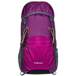 G4Free Large 40L Lightweight Water Resistant Travel Backpack/foldable & Packable Hiking Dayp ...