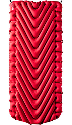 Klymit Insulated Static V Luxe Camping Air Mattress Red