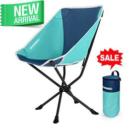 FUNDANGO Portable Camping Chair with Carrying Bag Lightweight and Comfortable Camp Folding Outdo ...