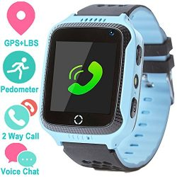 Smart Watch for Girls Boys – GPS Locator Pedometer Fitness Tracker Touch Camera Games Ligh ...