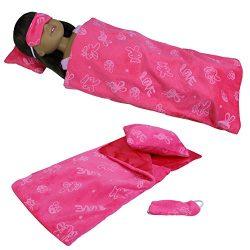 ZITA ELEMENT 3 PCS Sleeping Series Accessories with Sleep Bag, Pillow & Eye Mask for 14̸ ...