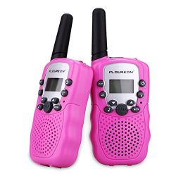 FLOUREON Walkie Talky for Kids Two Pack 22 Channel Two Way Radio 3000M (MAX 5000M Open Field) UH ...