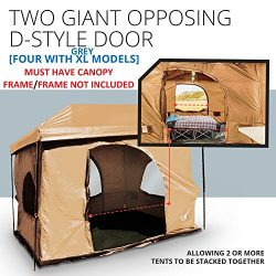 Standing Room Family Cabin Tent 8.5 FEET OF HEAD ROOM 2 or 4 Big Screen Doors Fast Easy Set Up F ...
