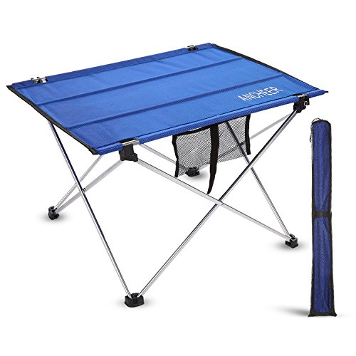 Ancheer lightweight folding portable camping table small picnic table with carrying bag for - Small lightweight folding table ...