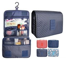 Portable Waterproof Travel Makeup Bag – Lady Color Foldable Organizer Travel Cosmetic Toil ...