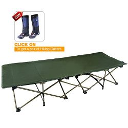 REDCAMP XL Camping Cot for Adults, Oversize and Comfortable Easy Portable Wide Cot, Free Storage ...