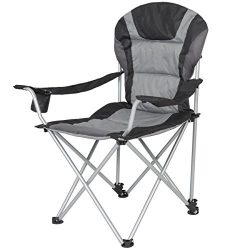 Best Choice Products Folding Deluxe Padded Reclining Camping Fishing Beach Chair With Portable C ...