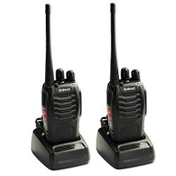 Galwad-888S Walkie Talkie 2pcs in One Box with Rechargeable Battery Headphone Wall Charger Long  ...