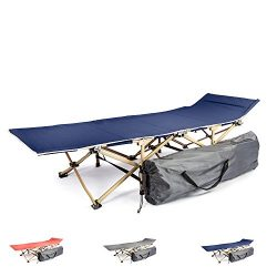 Camping cot portable folding bed for adults and kids | While camping or backpacking take our fol ...