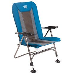 Timber Ridge Camping Folding Chair with Adjustable Back and Legs Supports to 300lbs, Camp, Fishing