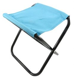 Daiso Mini Folding Chair Stool Beach Camping Traveling 10 x 8.25 Inches Teal (Weight Capacity 11 ...