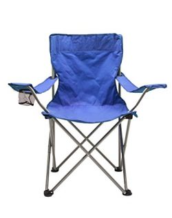 World Famous Sports Camping Quad Chair , Blue
