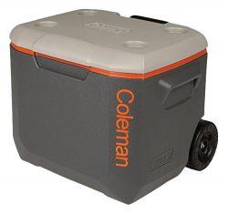 Coleman 3000002005 50Qt Xtreme Wheeled Cooler Dark Gray/Org/Light Gray