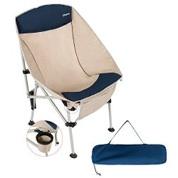 KingCamp Camping Chair, Lightweight Heavy Duty Folding Stool with Headrest, Portable Compact for ...