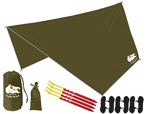 Chill Gorilla Hex Hammock Rain Fly Tent Tarp Waterproof