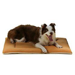 QIAOQI Dog Bed Mat, Crate Kennel Orthopedic Pad Car Seat Cover Mattress Cushion Sleeping Soft Fl ...