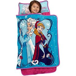 1 Piece Kids Girls Pink Blue Disney Frozen Nap Mat, Cute Elsa Floor Bedding Anna Sleepover Napti ...