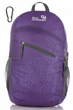 Outlander Packable Handy Lightweight Travel Hiking Backpack Daypack-Purple