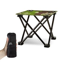 Folding Camping Stool, Mini Folding Stool Portable, Mini Portable Chair for Beach, Picnic Party, ...