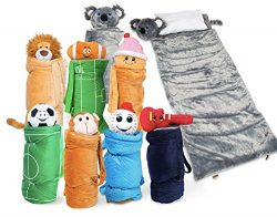 SUPER FUN & UNIQUE Sleeping Bag/Overnight Travel Kit For Kids| Buddy Bagz's All in 1 Travell ...