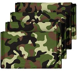 Camouflage Emergency Mylar Blankets (4-Pack) – Perfect for Outdoor Camping, Hiking, Surviv ...
