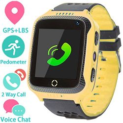 Kids Smart Watch Phone for Girls Boys with GPS Locator Pedometer Fitness Tracker Touch Camera Ga ...