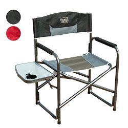 Timber Ridge Director's Chair Folding Breathable Mesh Material Aluminum Camping Portable L ...