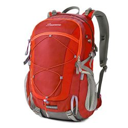 Mountaintop 40 Liter Unisex Hiking/Camping Backpack (Red1)