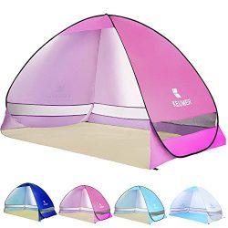 Ylovetoys Pop Up Beach Tent, 3-4 Persons Instant Beach Tents Sun Shelter Anti UV Cabana Shade Wa ...