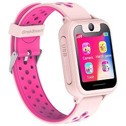 Kids Smartwatch for Boys Girls – GPS Tracker Phone Remote Monitor Camera Game Anti Lost Al ...