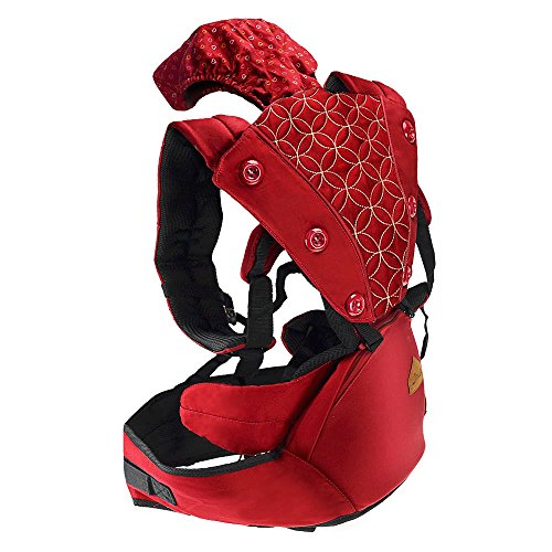 Jhua 360 Ergonomic Baby Carrier with Sling Soft Hip Seat, Airflow Child Baby Carrier Backpack fo ...