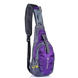LC Prime FBA_CH058PE Â Sling Bag Chest Shoulder Unbalance Gym Fanny Backpack Sack Satchel Outdoo ...