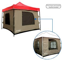 Camping Tent attaches to any 10'x10′ Easy Up Pop Up Canopy Tent with 4 Walls, PVC Fl ...