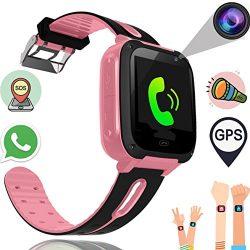Kids Smart Watch Phone for Boys Girls with GPS Tracker Synmila Smart Wrist Watch Phone with SIM  ...