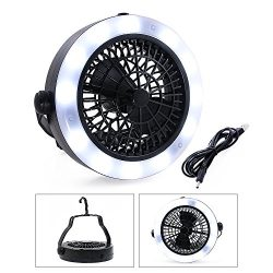 VEEAPE LED Camping Lantern, Rechargeable Tent Light with Ceiling Fan(2rd Generation), The One of ...
