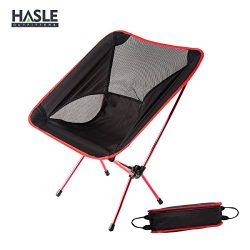 HASLE OUTFITTERS Portable Camping Chairs, Hiking Camping Chair, Outdoor Folding Backpacking Chai ...