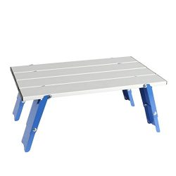 PORTAL Personal Aluminum Folding Table for Beach Sand Camping, Small Size