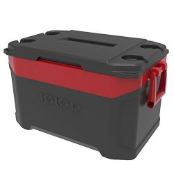 Igloo Latitude 50 quart Cooler, Jet Carbon Red