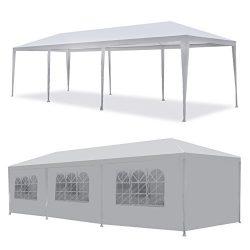 Tenozek White 10′ X 30′ Portable Outdoor Gazebo Canopy, Heavy Duty Wedding Party Ten ...