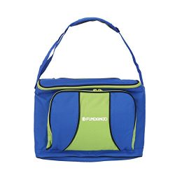 FUNDANGO 30-Can Portable Soft Cooler Bag for Outdoor Picnic Camping Backpacking Hiking, Blue